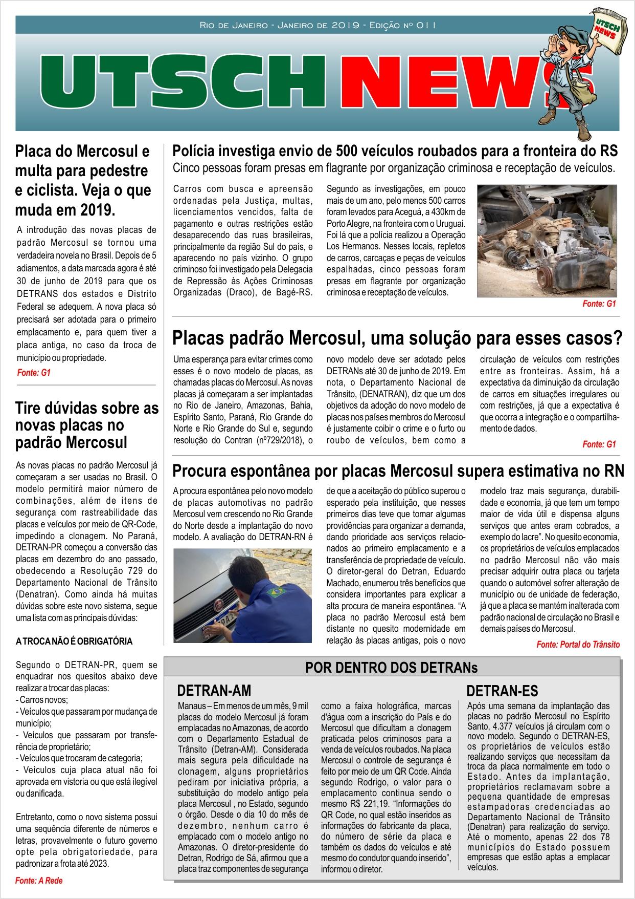 Jornal UTSCH BRASIL - edição 011 - Janeiro_2019