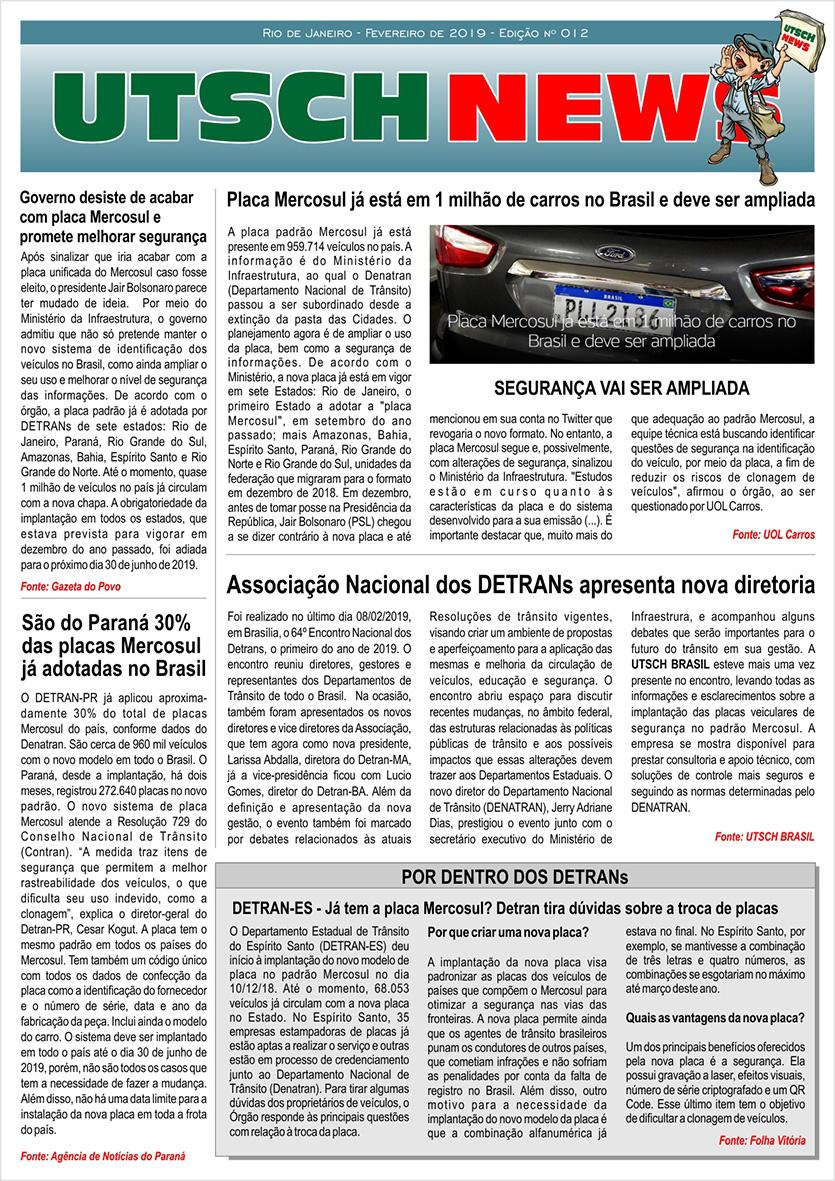 Jornal UTSCH BRASIL - edição 012 - Fevereiro_2019